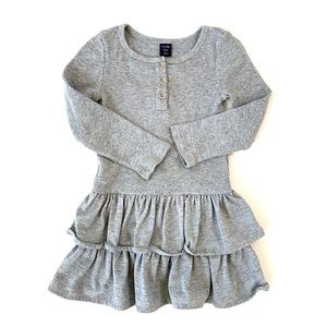 GAP Toddler Girl Gray Ruffle Dress